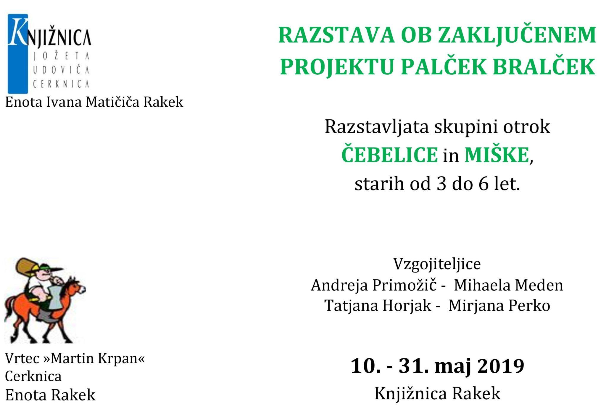 cover 3 - Razstava ob zaključenem projektu Palček Bralček