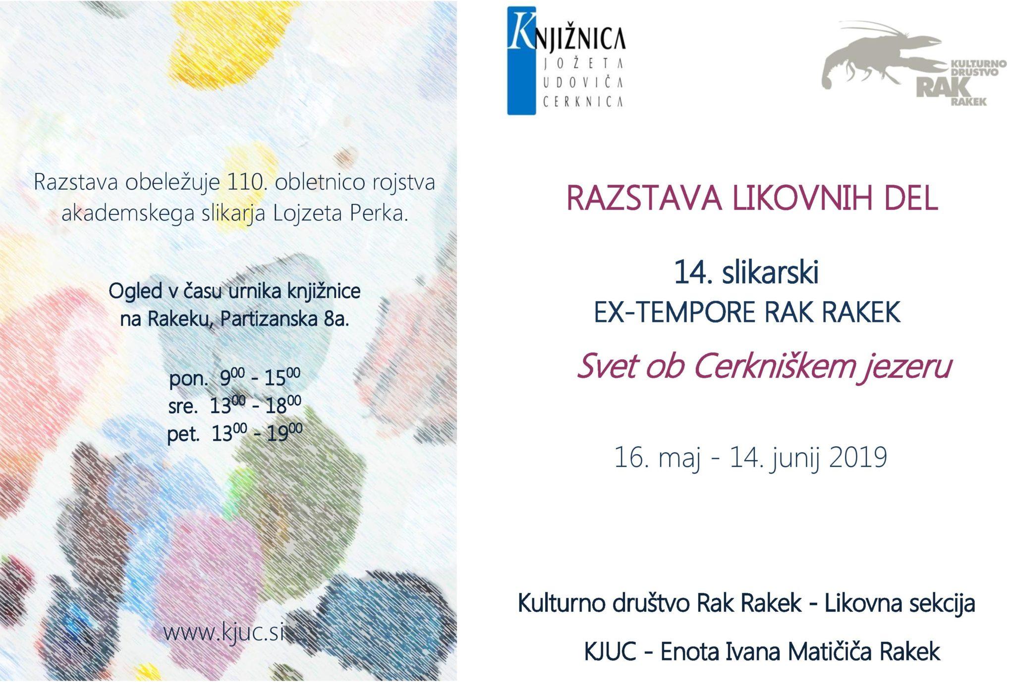 cover 4 - 14. slikarski Ex-tempore Rak Rakek – razstava likovnih del