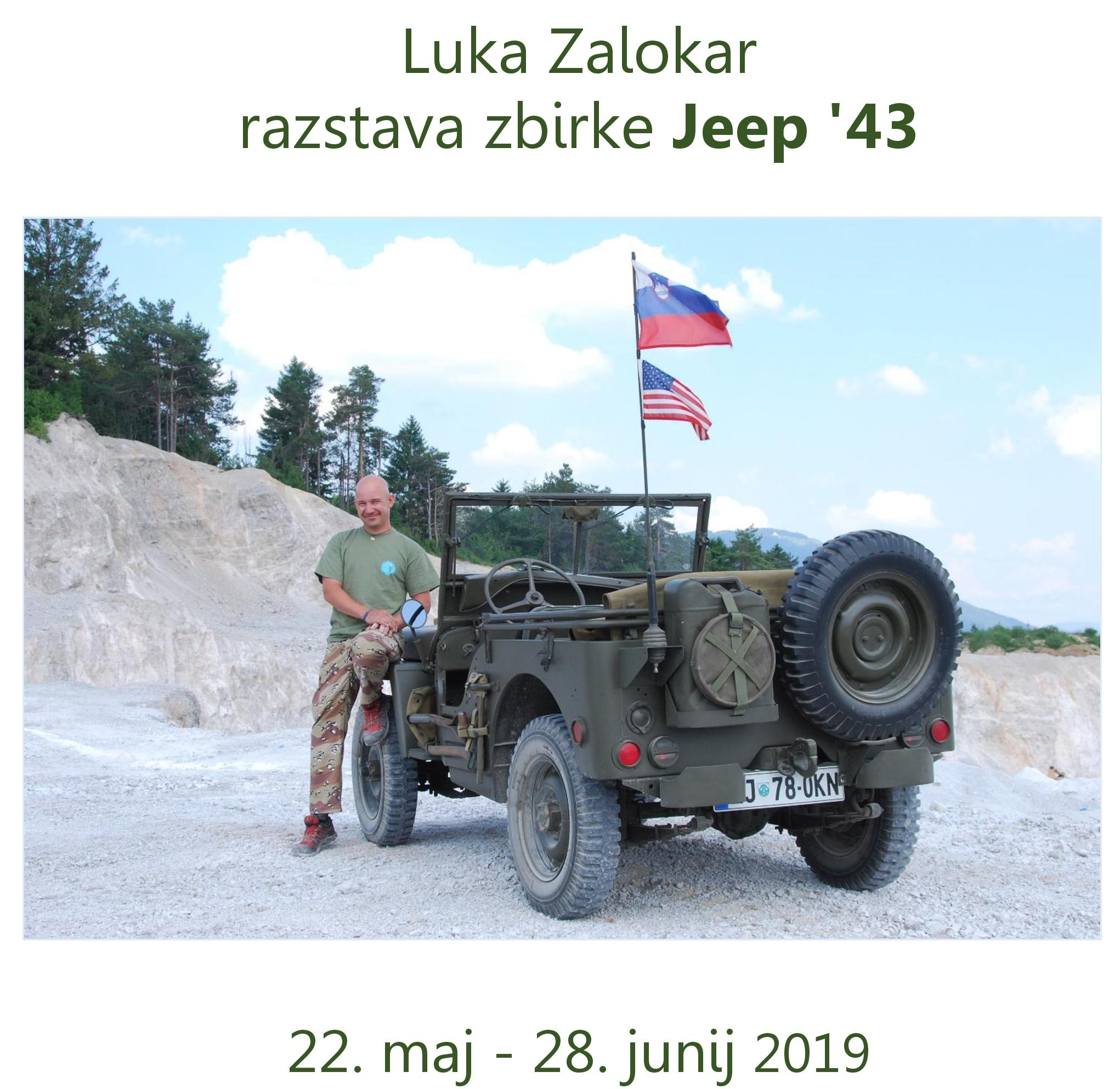 cover 5 - Luka Zalokar - razstava zbirke Jeep '43