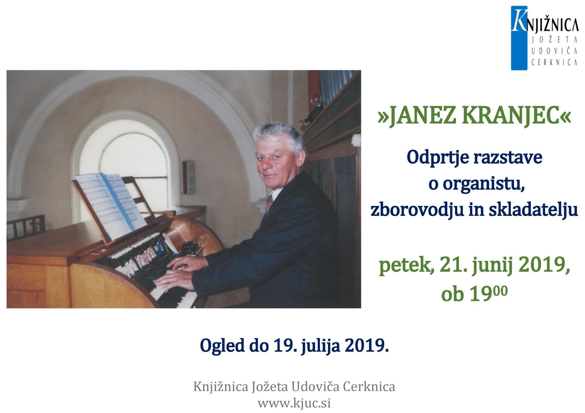 cover 2 - Janez Kranjec - odprtje razstave o organistu, zborovodju in skladatelju