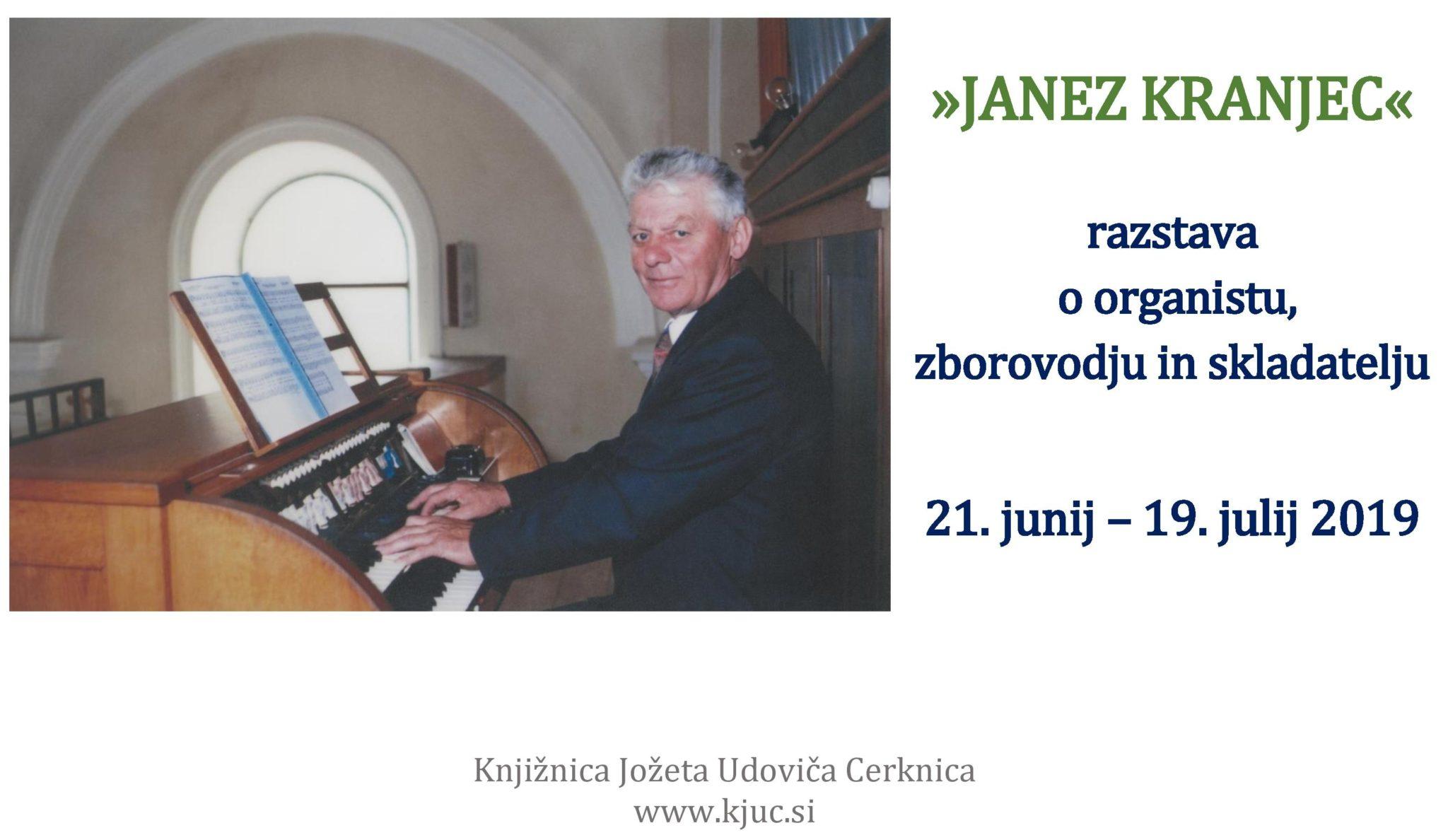 cover 3 - Janez Kranjec – razstava o organistu, zborovodju in skladatelju