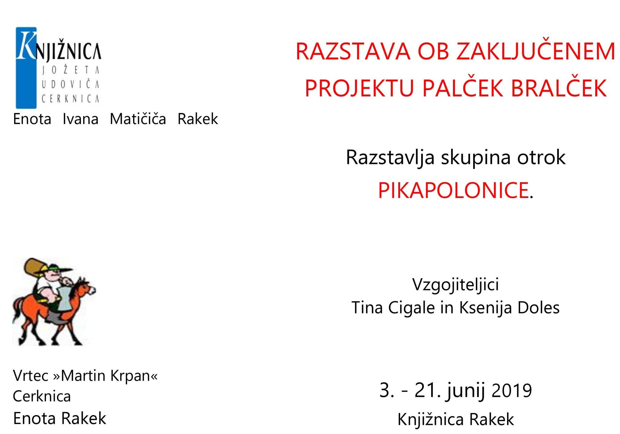 cover - Razstava ob zaključenem projektu Palček Bralček