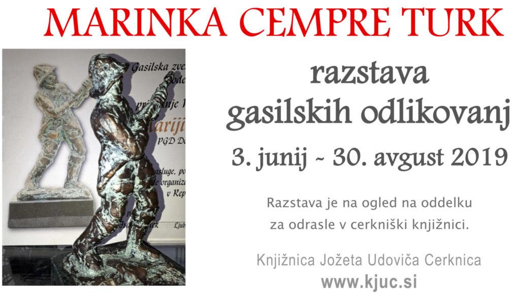 vabilo 1024x589 - Razstava gasilskih odlikovanj iz zbirke Marinke Cempre Turk