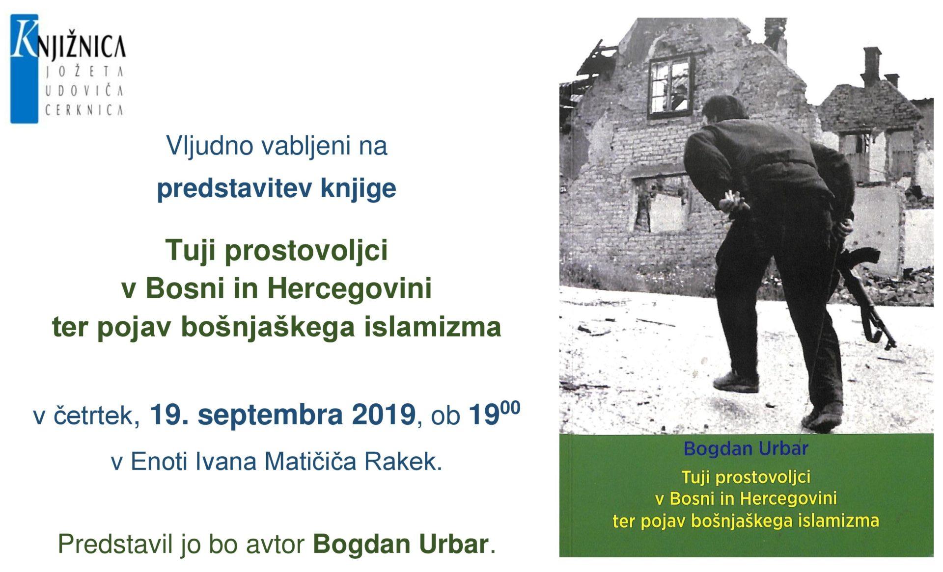 cover 1 - Predstavitev knjige: Tuji prostovoljci v Bosni in Hercegovini ter pojav bošnjaškega islamizma