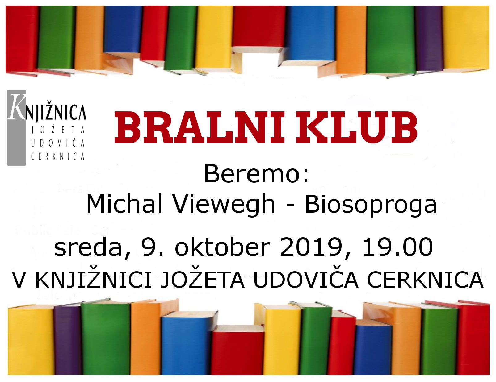 vabilo 2sestanek - Bralni klub: Michal Viewegh - Biosoproga