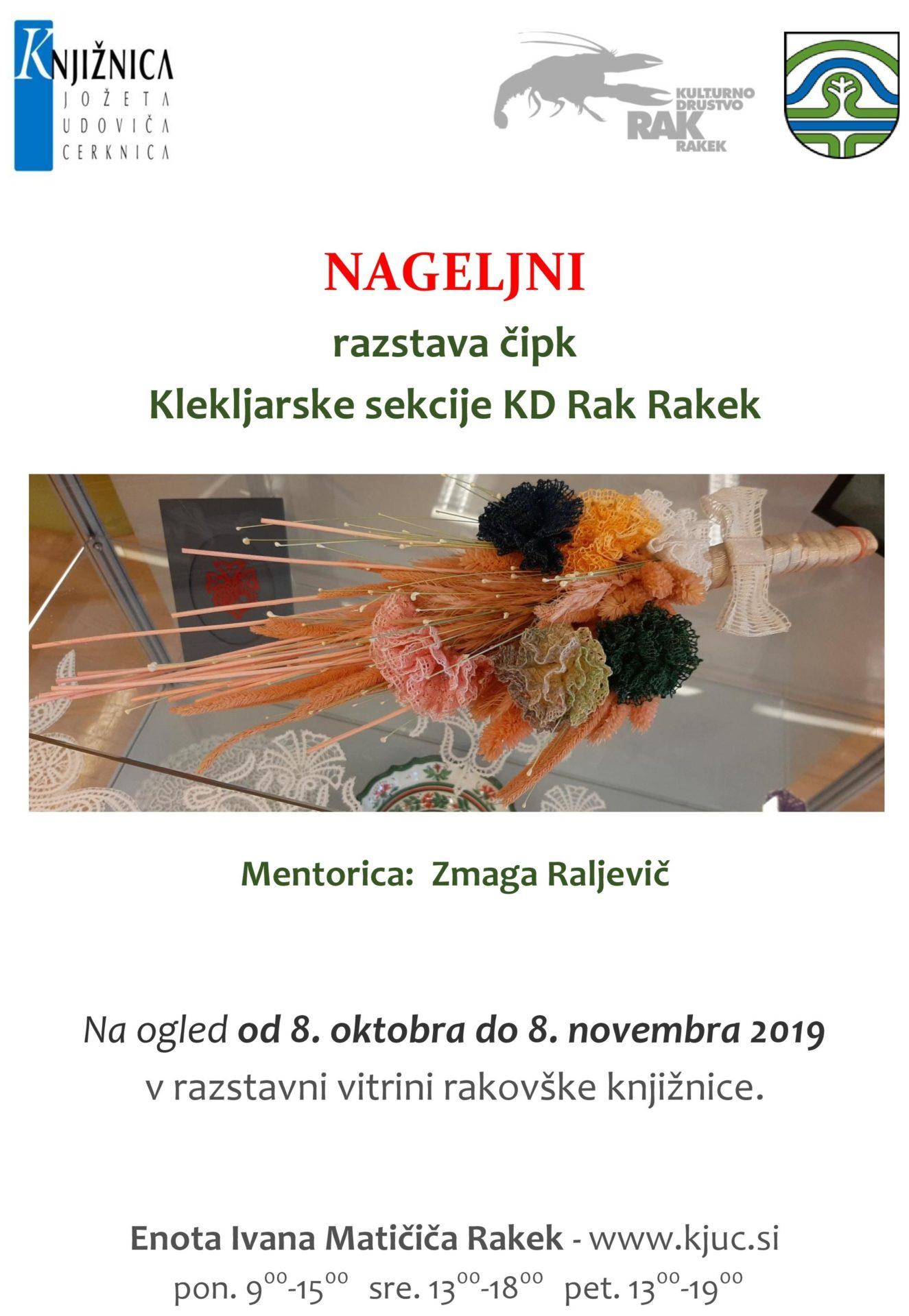cover 2 - Nageljni - razstava čipk Klekljarske sekcije KD Rak Rakek