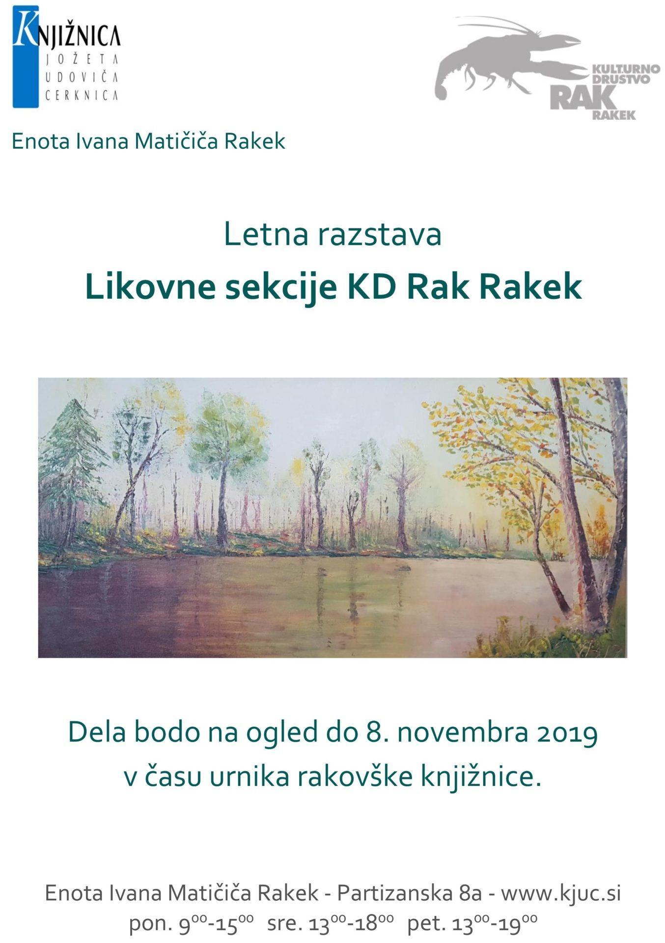 cover 4 - Razstave Likovne sekcije KD Rak Rakek