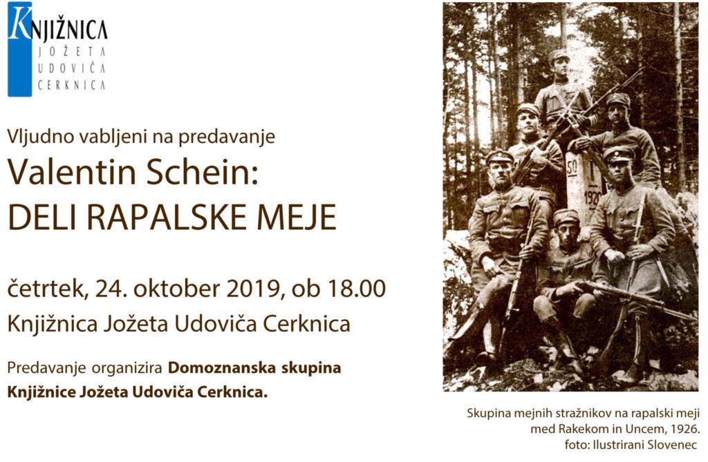 fbVabilo Schein okt 2019 1024x669 - Valentin Schein: Deli rapalske meje - predavanje