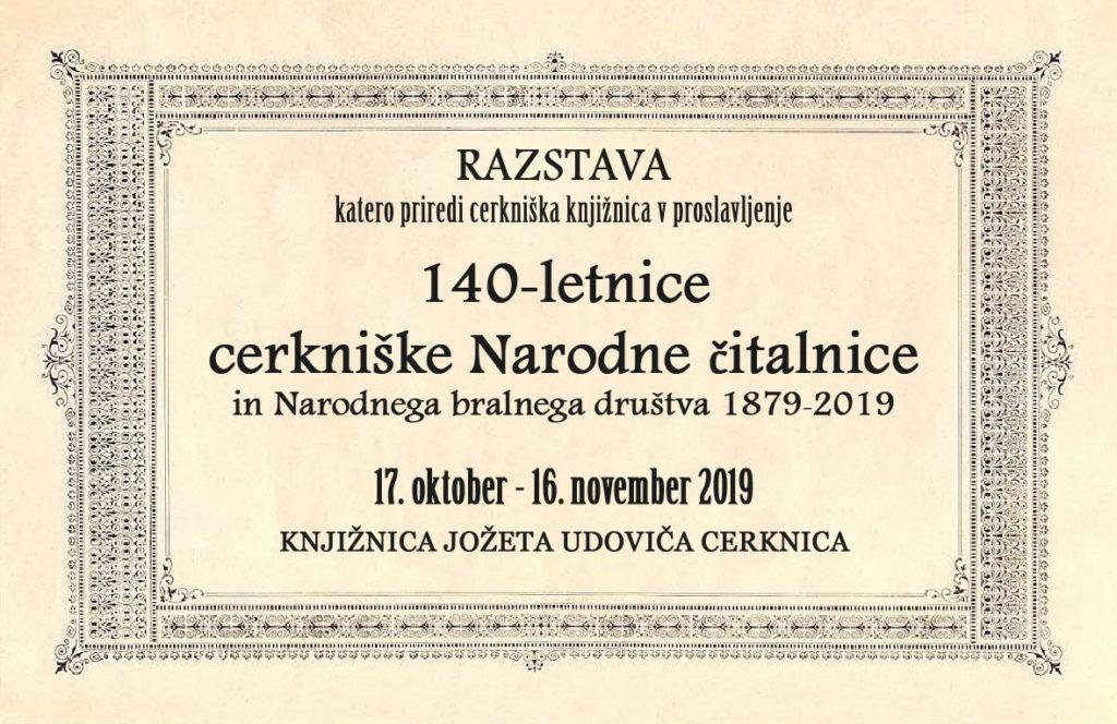 razstava copy 1024x664 - 140-letnica cerkniške Narodne čitalnice in Narodnega bralnega društva 1879‒2019