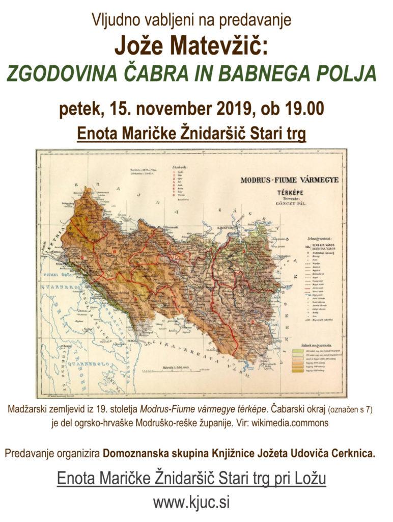 Matevzic nov 2018 772x1024 - Jože Matevžič: Zgodovina Čabra in Babnega Polja