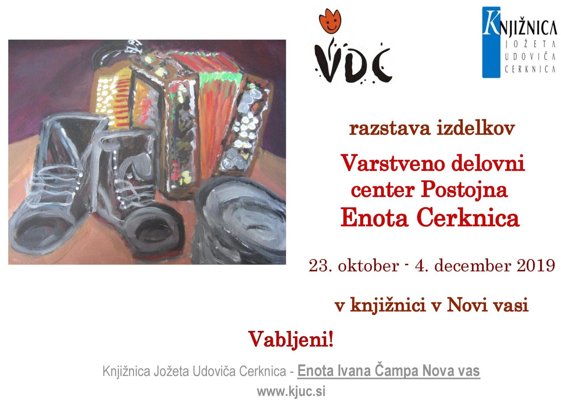 cover - Razstave izdelkov – VDC Postojna - Enota Cerknica