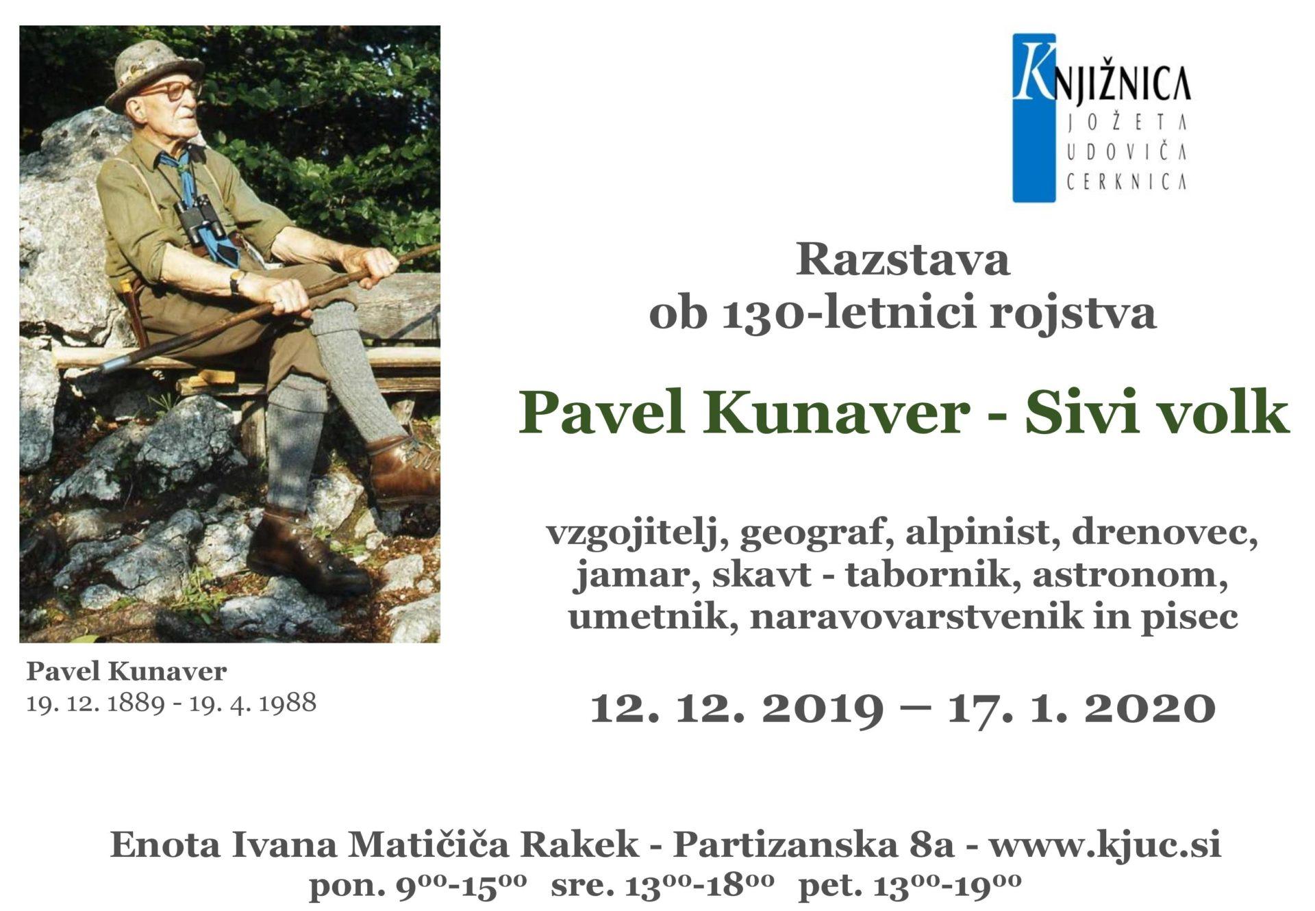 cover 3 - Razstava ob 130-letnici rojstva Pavla Kunaverja – Sivega volka