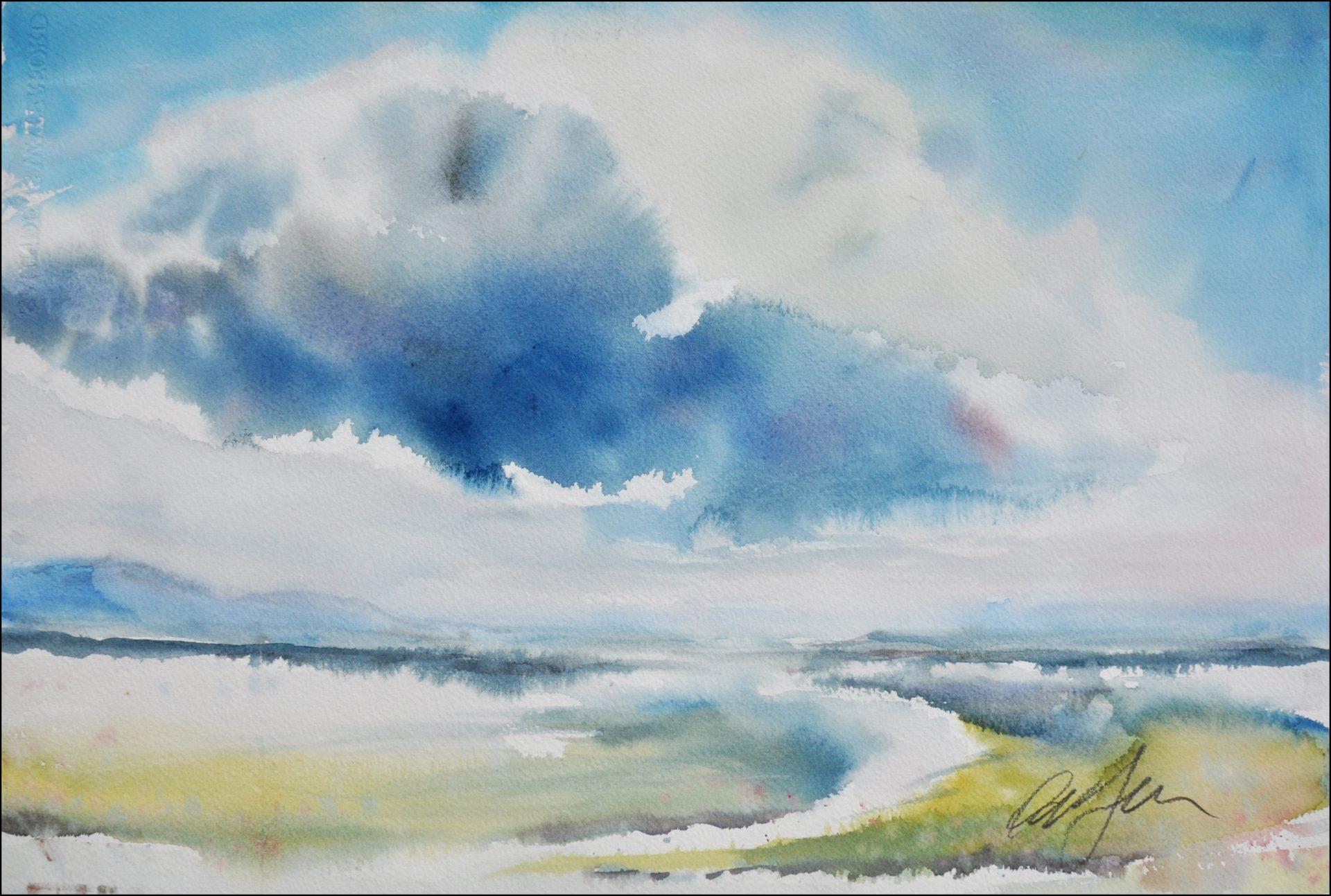 Oblak nad jezerom Janez Ovsec 37x56 2018 - Arhiv razstave