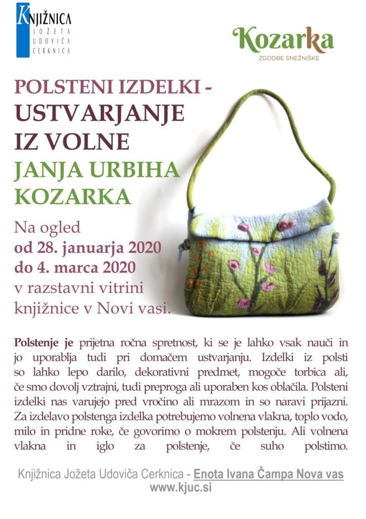 Polsteni izdelki 723x1024 - Janja Urbiha Kozarka – Ustvarjanje iz volne – razstava polstenih izdelkov