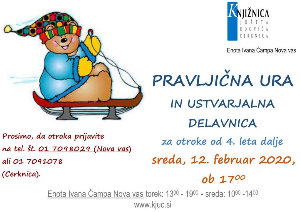Pravljična NV feb2020 1024x721 - Pravljična ura in ustvarjalna delavnica za otroke od 4. leta dalje