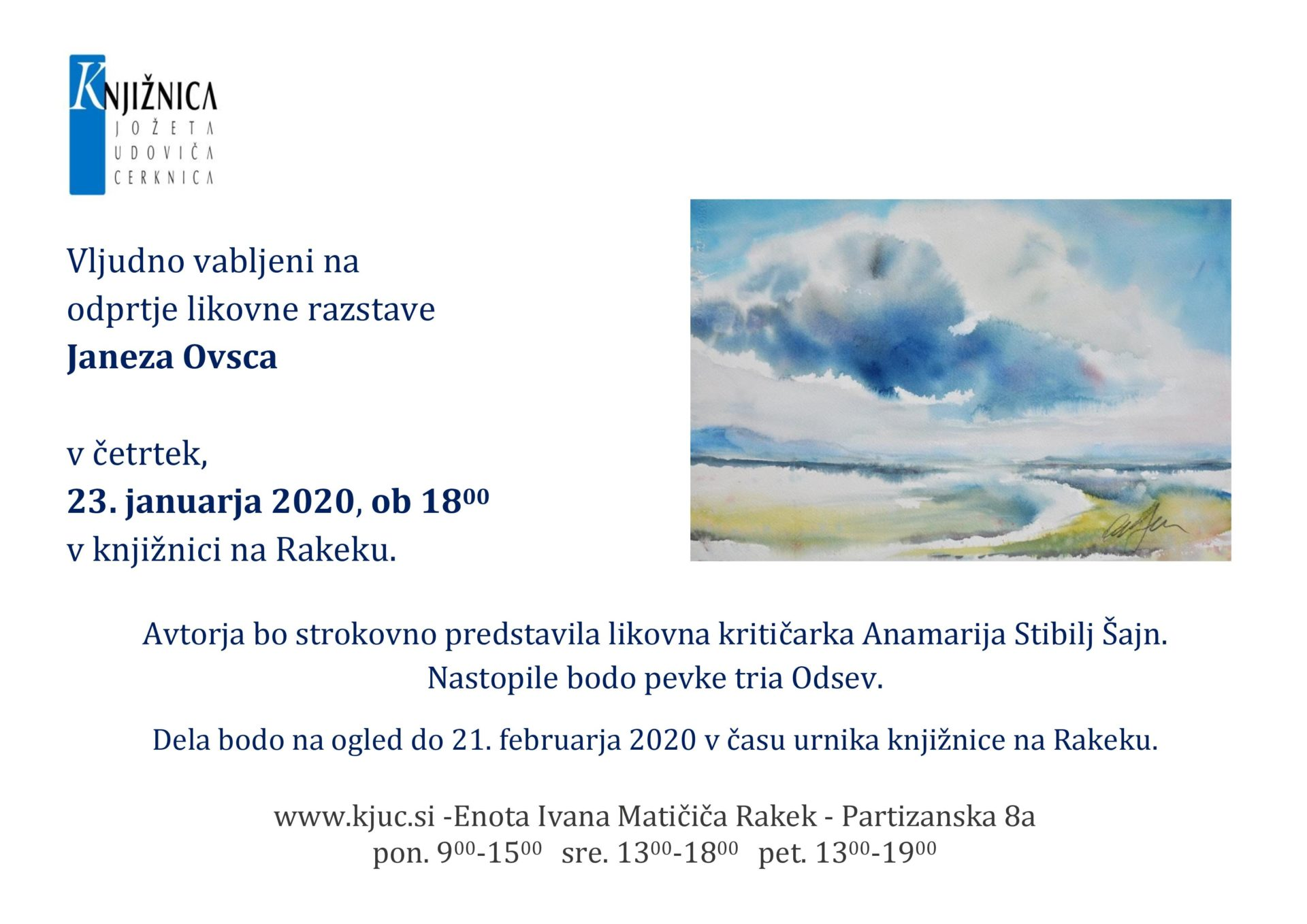vab ovsec page 001 - Odprtje likovne razstave Janeza Ovsca