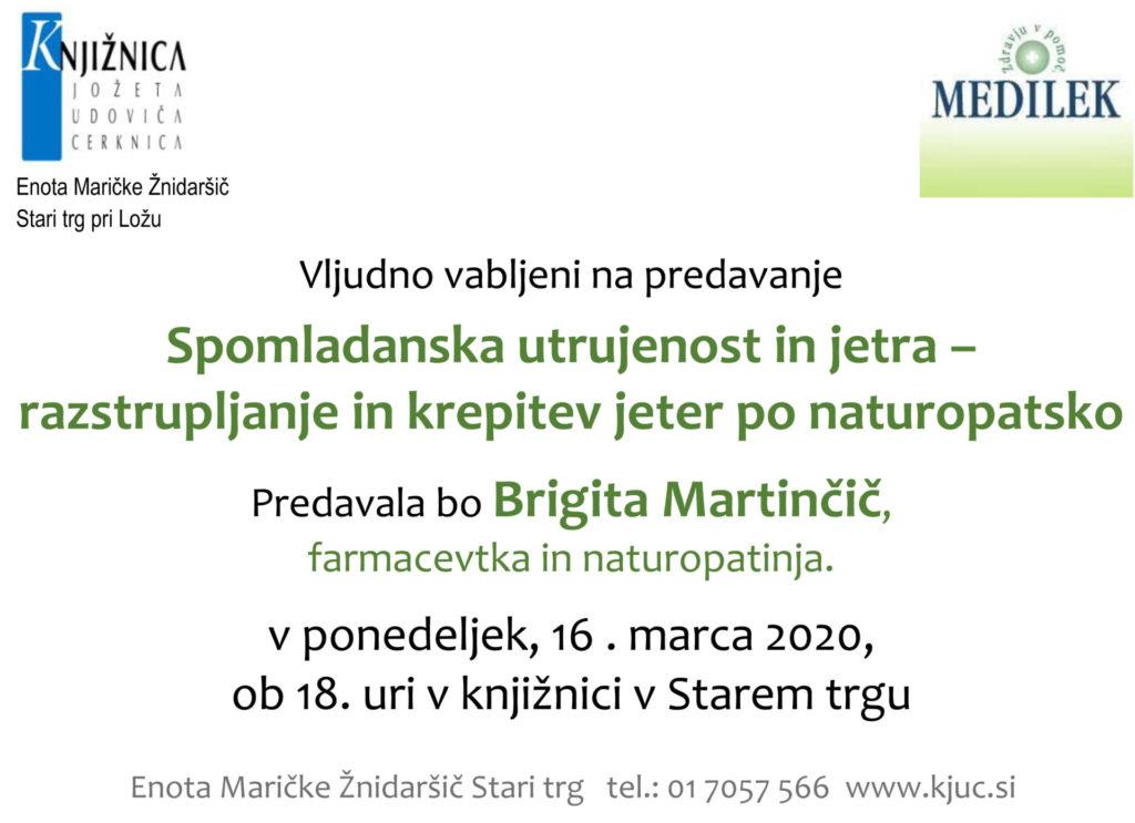 Brigita 1024x743 - ODPOVEDANO – Brigita Martinčič: Spomladanska utrujenost in jetra – razstrupljanje in krepitev jeter po naturopatsko