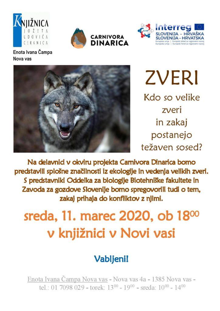 Zveri vabilo page 001 724x1024 - ODPOVEDANO – Zveri - kdo so velike zveri in zakaj postanejo težaven sosed?