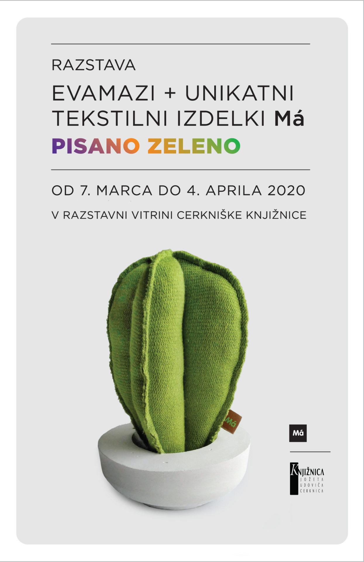 vabilo copy - Pisano zeleno - razstava oblikovalke Eve Mazi