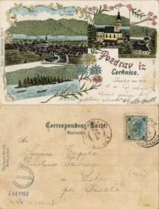 Cerknica 1898 229x300 - Stare razglednice Cerknice iz naše Domoznanske zbirke