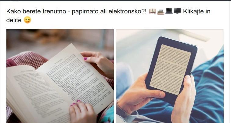e tisk - Anketa - tiskana ali elektronska knjiga
