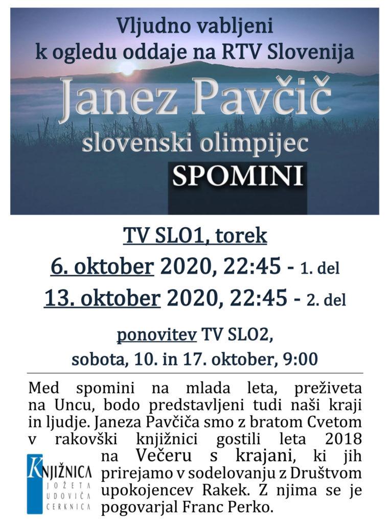 Pavcic RTV okt 2020 1 763x1024 - Spomini: Janez Pavčič - slovenski olimpijec - oddaja na RTV Slovenija