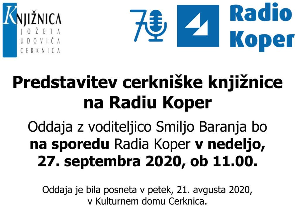 Predstavitev cerkniske knjiznice 1024x713 - V nedeljo, 27. septembra, ob 11.00 predstavitev cerkniške knjižnice na Radiu Koper