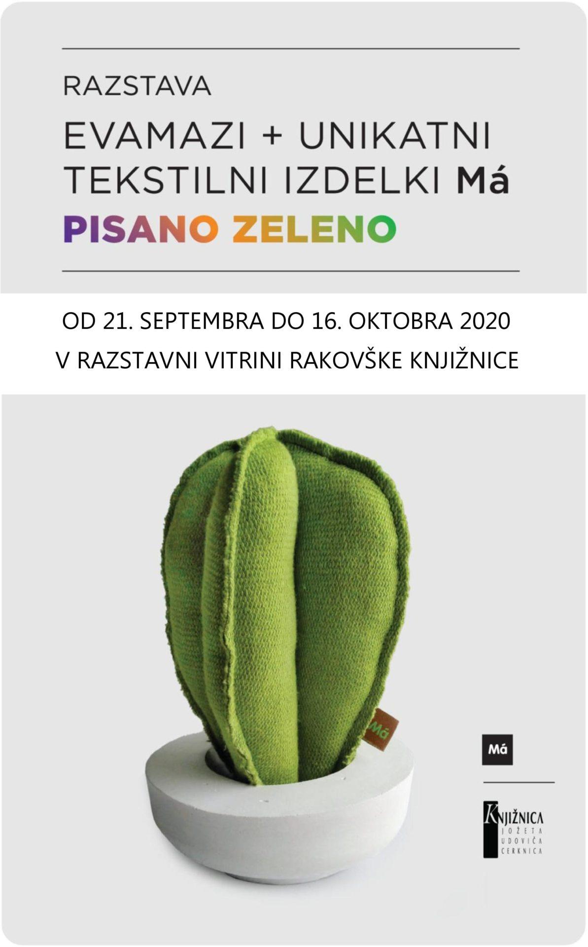 cover 1 - Pisano zeleno – razstava oblikovalke Eve Mazi