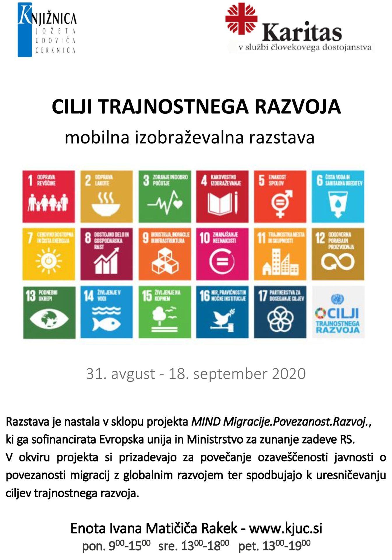 cover - Cilji trajnostnega razvoja - mobilna izobraževalna razstava