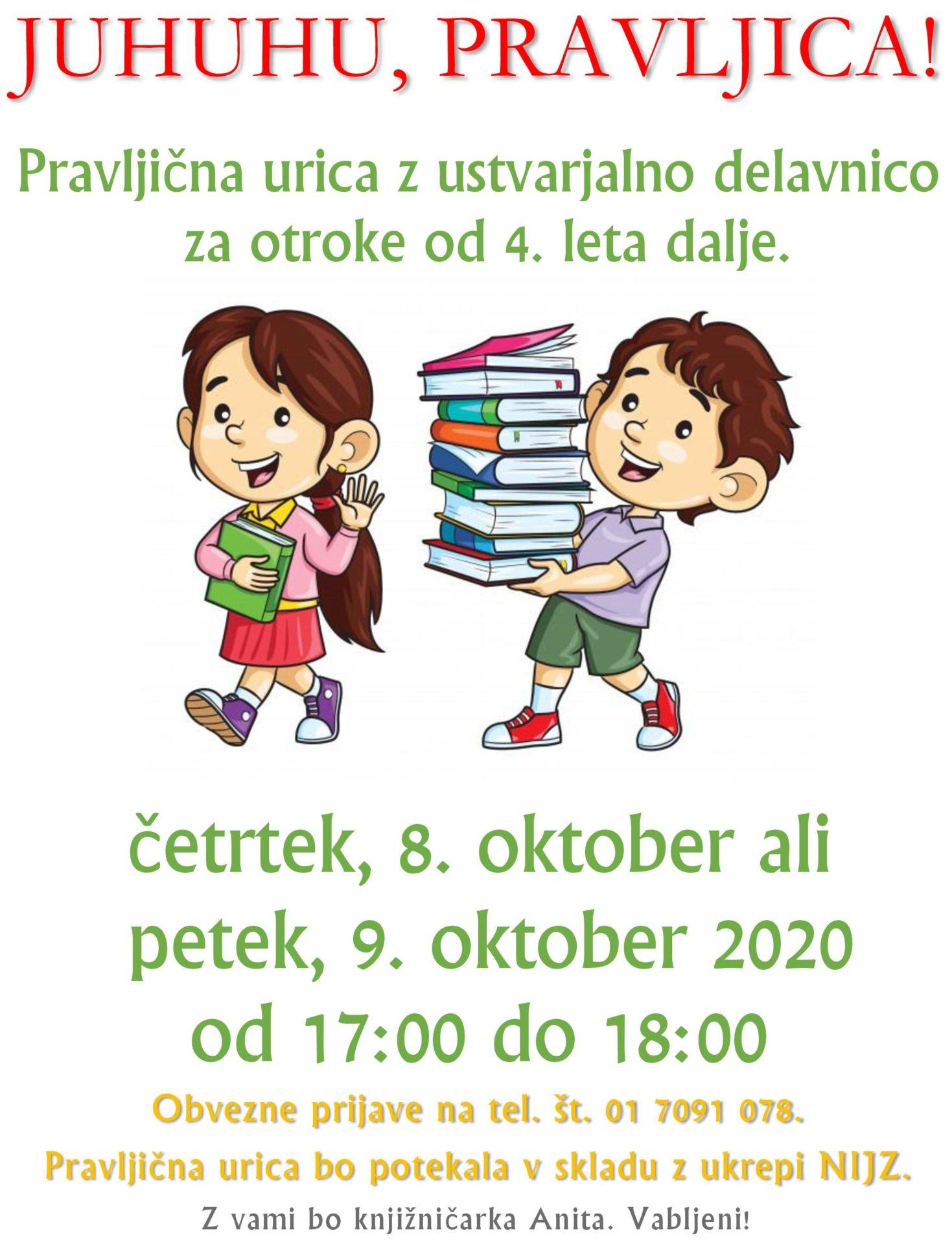 cover - Pravljična urica z ustvarjalno delavnico za otroke od 4. leta dalje – Cerknica