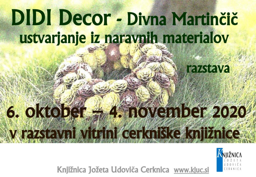 fbDIDI Decor 1024x709 - DIDI Decor - Divna Martinčič ustvarjanje iz naravnih materialov - razstava