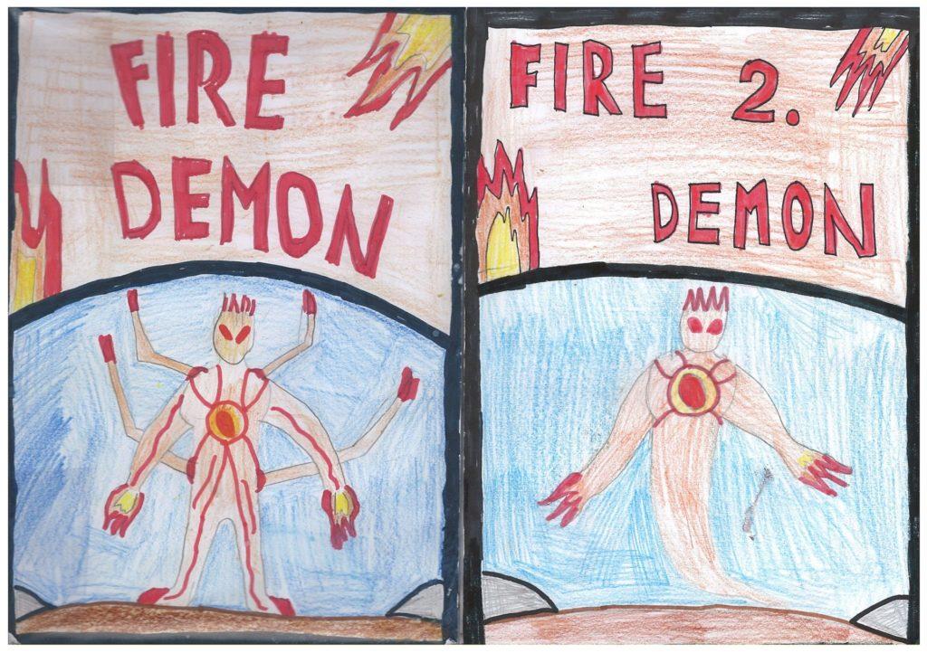 Jakob S. nasl. Fire demon 1 2 1024x722 - Jakob Simšič - razstava avtorskih stripov