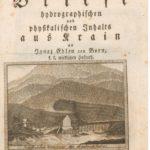 Tobija Gruber   Hidrografska in fizikalna pisma s Kranjske 150x150 - Mesečnik domoznanskega arhiva Knjižnice Jožeta Udoviča Cerknica