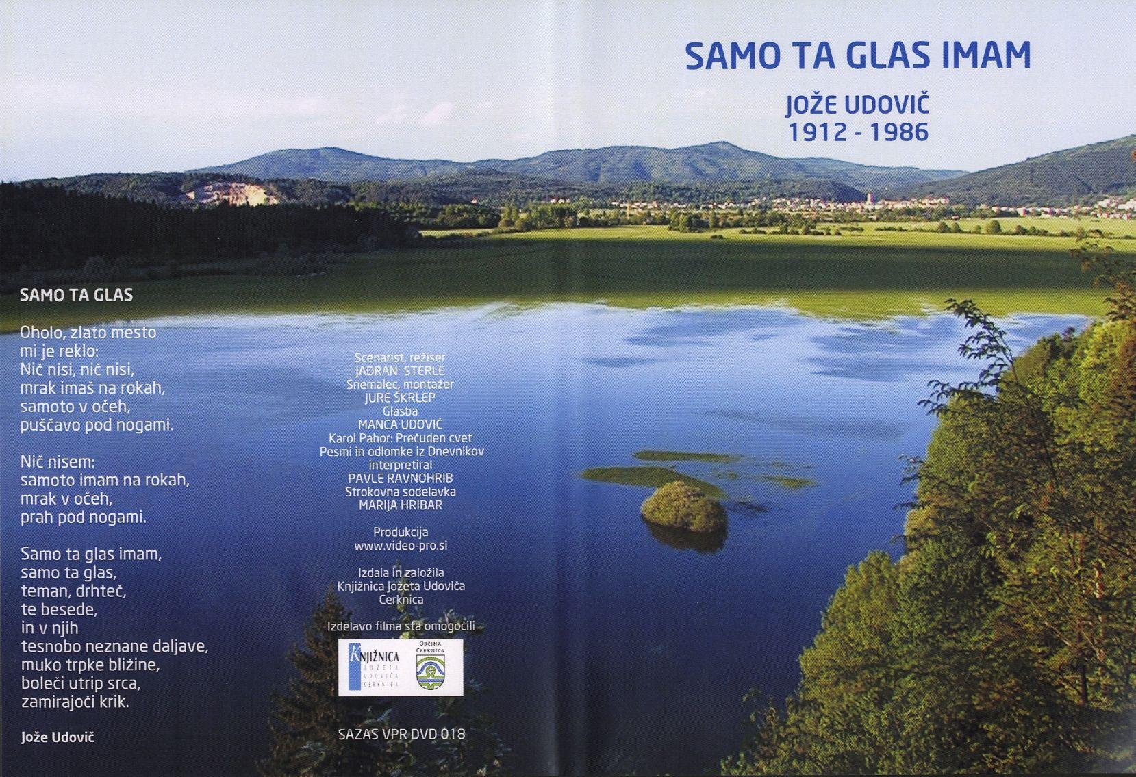 udovic130 - Samo ta glas imam : Jože Udovič 1912-1986