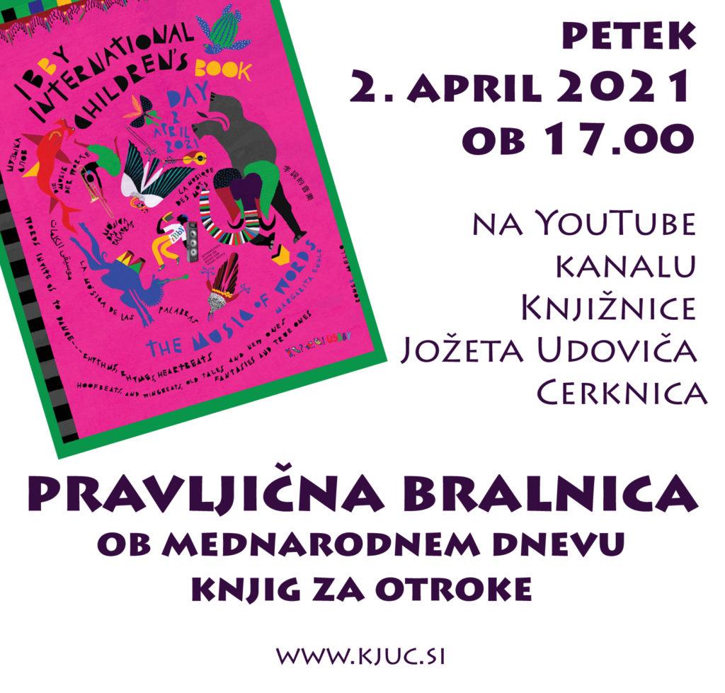 vabilo bralnica copy 1024x979 - PRAVLJIČNA BRALNICA ob mednarodnem dnevu knjig za otroke