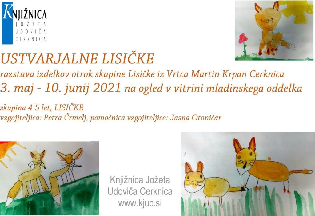 USTVARJALNE LISICKE 1 1024x703 - Ustvarjalne lisičke - razstava izdelkov otrok skupine Lisičke iz Vrtca Martin Krpan Cerknica