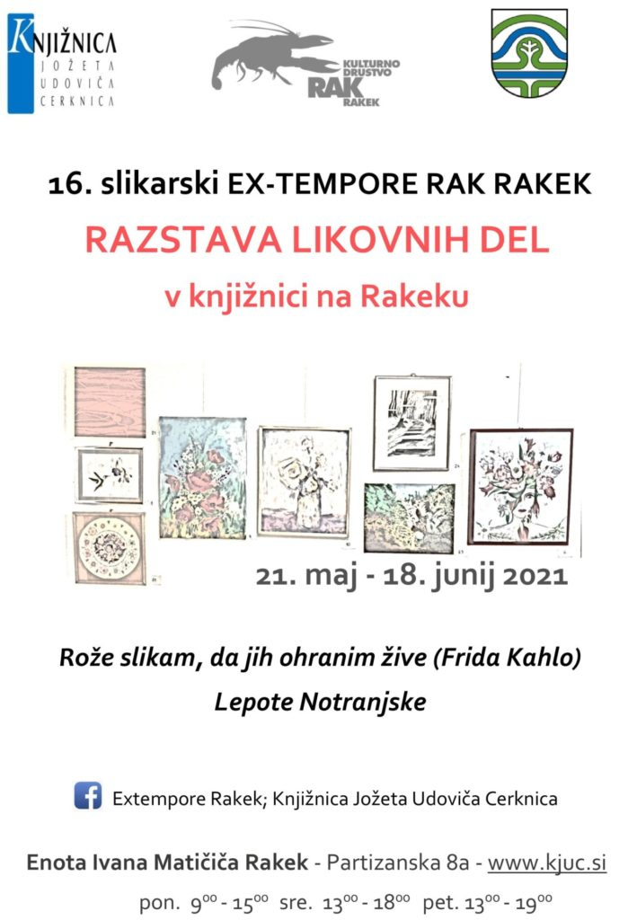 cover 1 699x1024 - 16. slikarski Ex-tempore Rak Rakek – razstava likovnih del