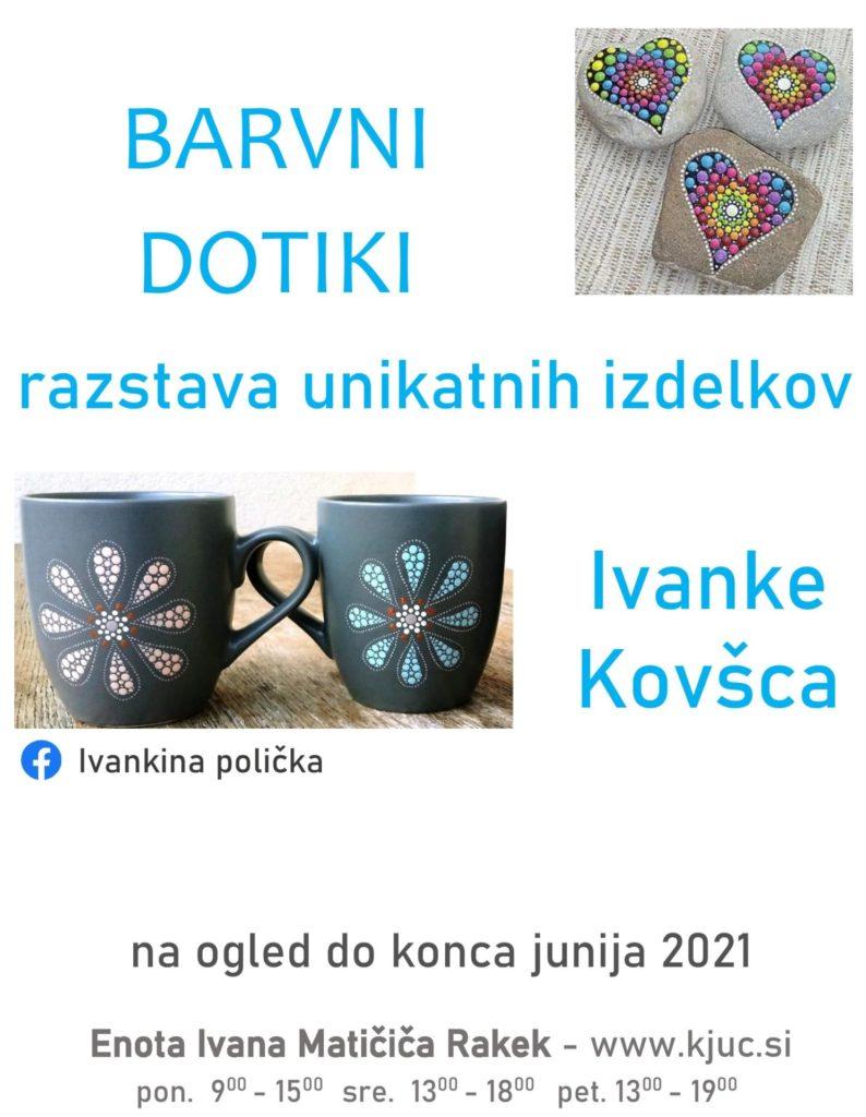 cover 794x1024 - Barvni dotiki – razstava unikatnih izdelkov Ivanke Kovšca