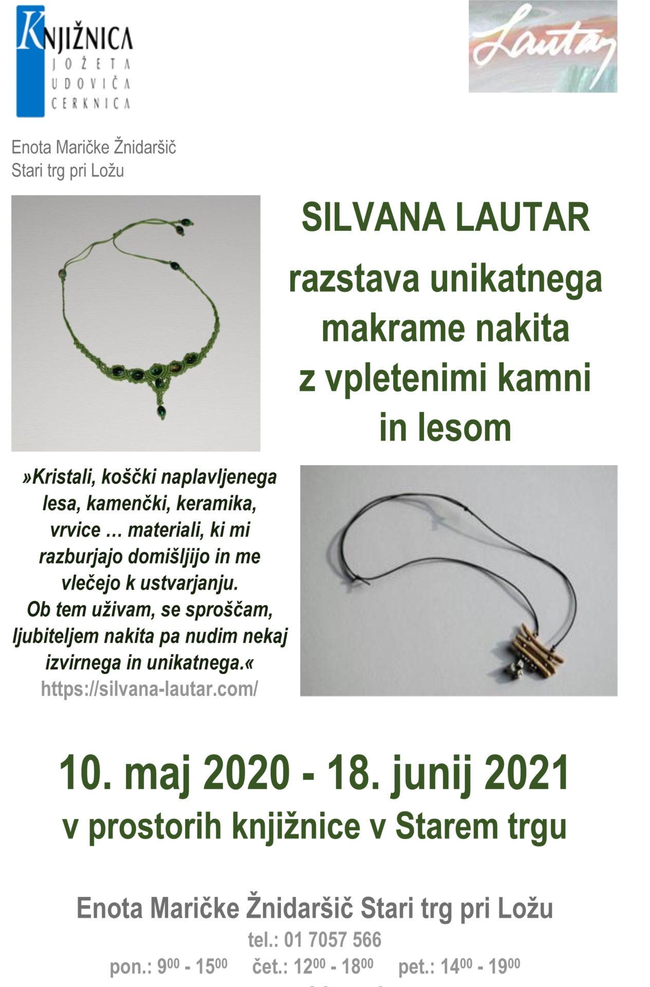 silvana lautar - Silvana Lautar - razstava unikatnega makrame nakita z vpletenimi kamni in lesom
