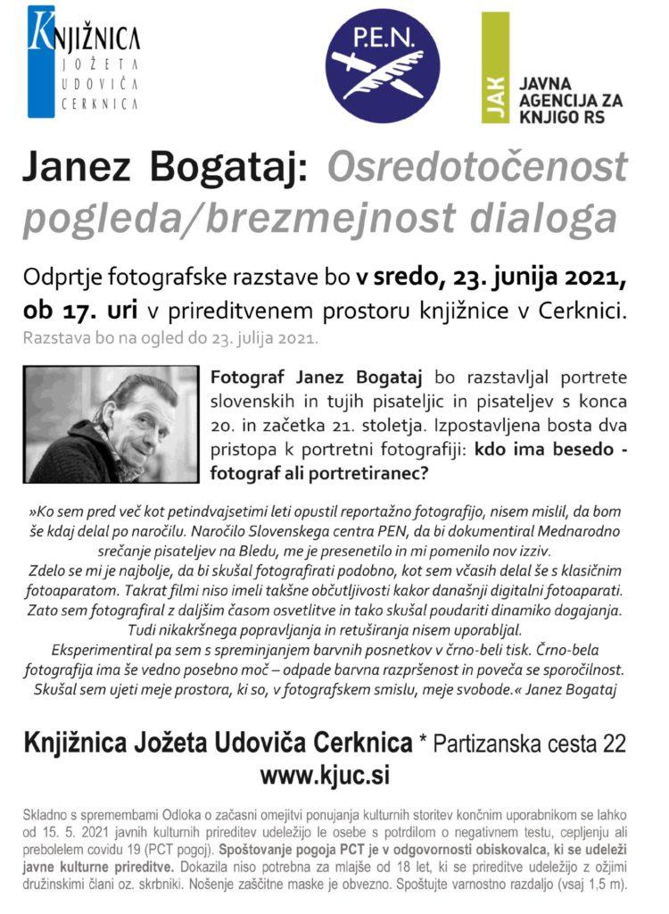 1 750x1024 - Janez Bogataj: Osredotočenost pogleda/brezmejnost dialoga