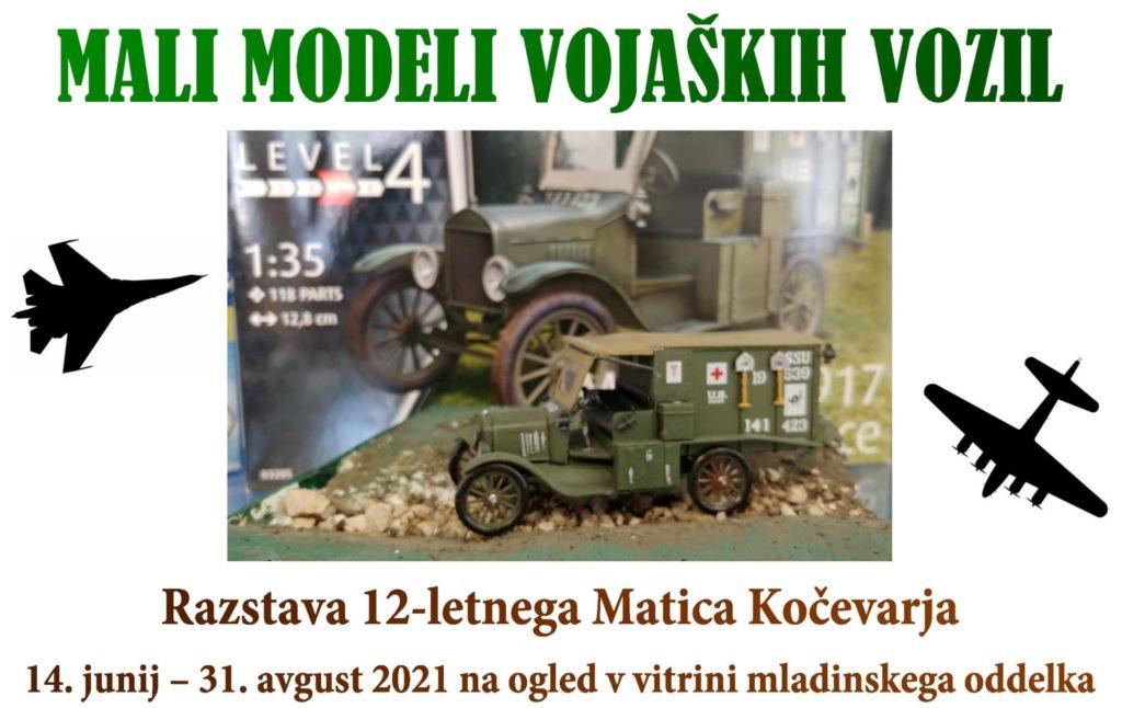 cover2 1 1024x646 - Mali modeli vojaških vozil - razstava 12-letnega Matica Kočevarja