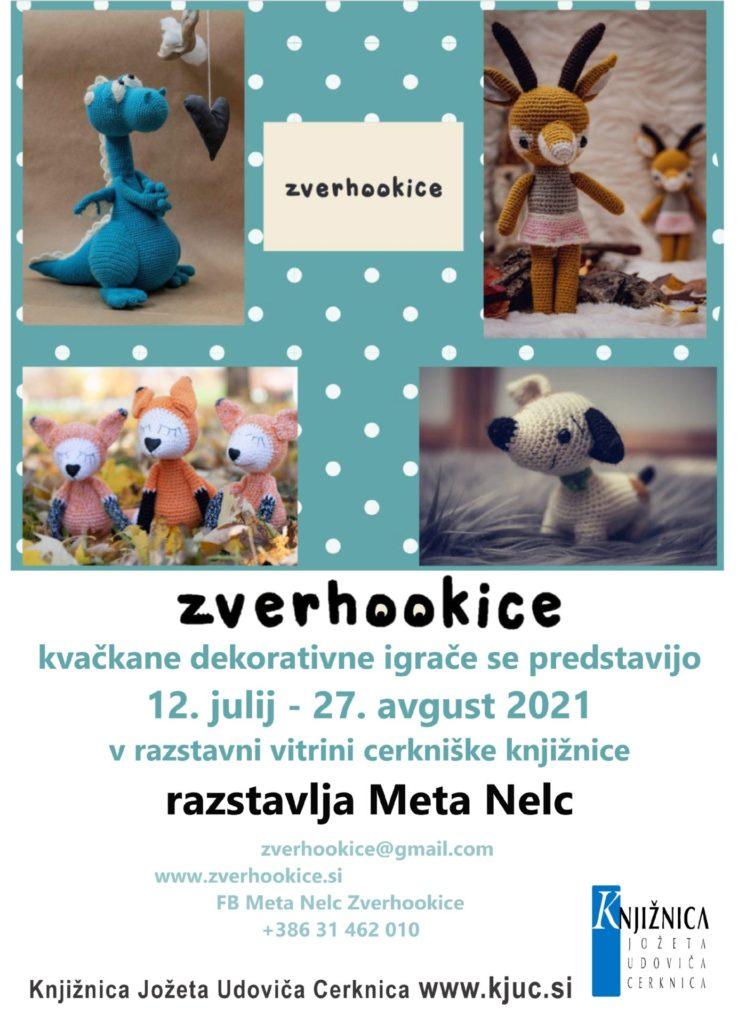 Vabilo MN Zverhookicea 746x1024 - Meta Nelc: Zverhookice - kvačkane dekorativne igrače se predstavijo