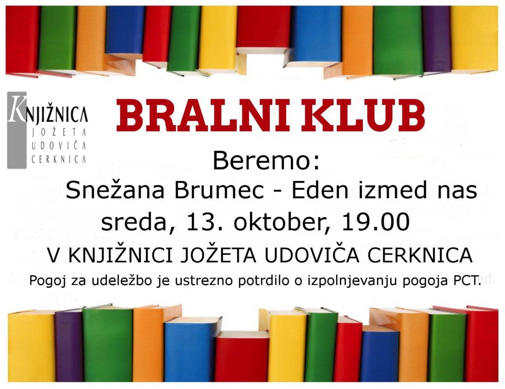 cover 1 1024x789 - Bralni klub: Snežana Brumec - Eden izmed nas