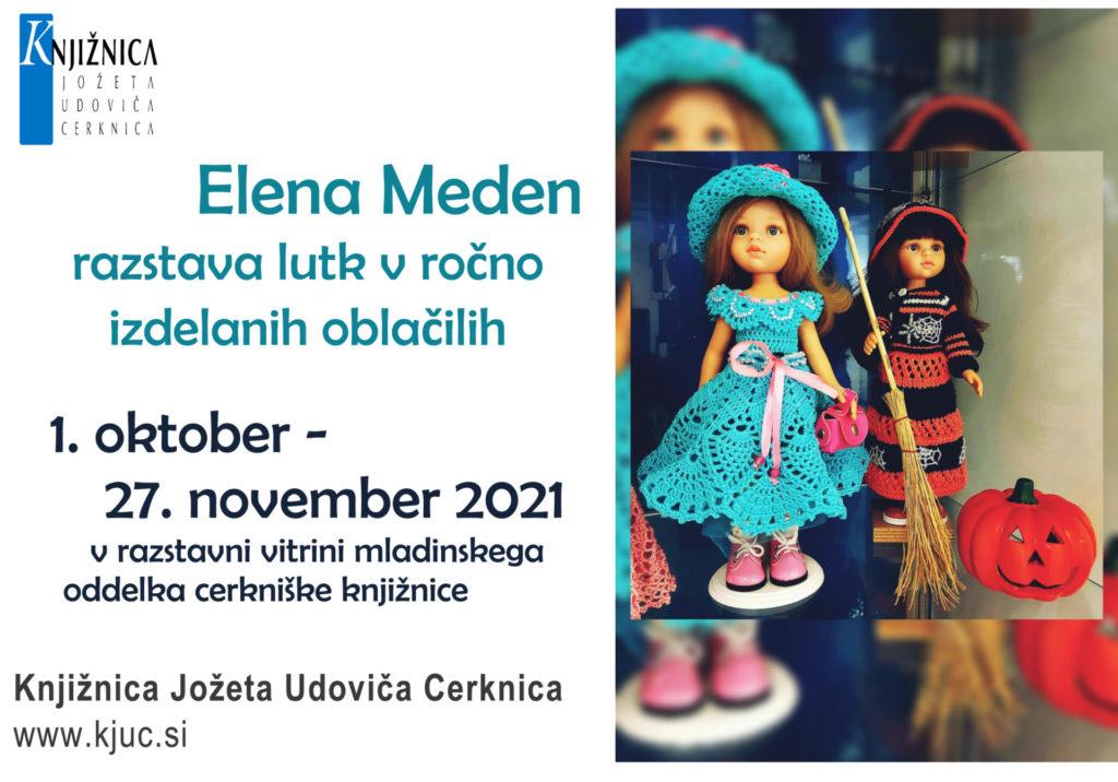Elena Meden vabilo 1024x716 - Elena Meden - razstava lutk v ročno izdelanih oblačilih