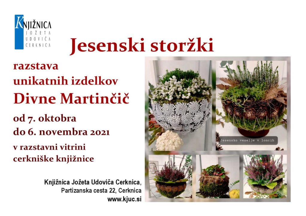 Jesenski storzki page 001 1024x724 - Jesenski storžki - razstava unikatnih izdelkov Divne Martinčič