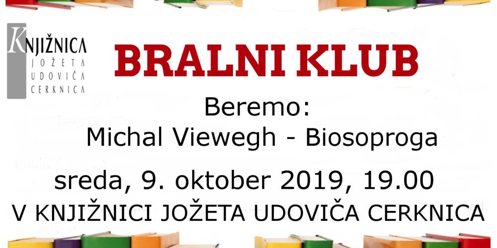 Bralni klub: Michal Viewegh – Biosoproga
