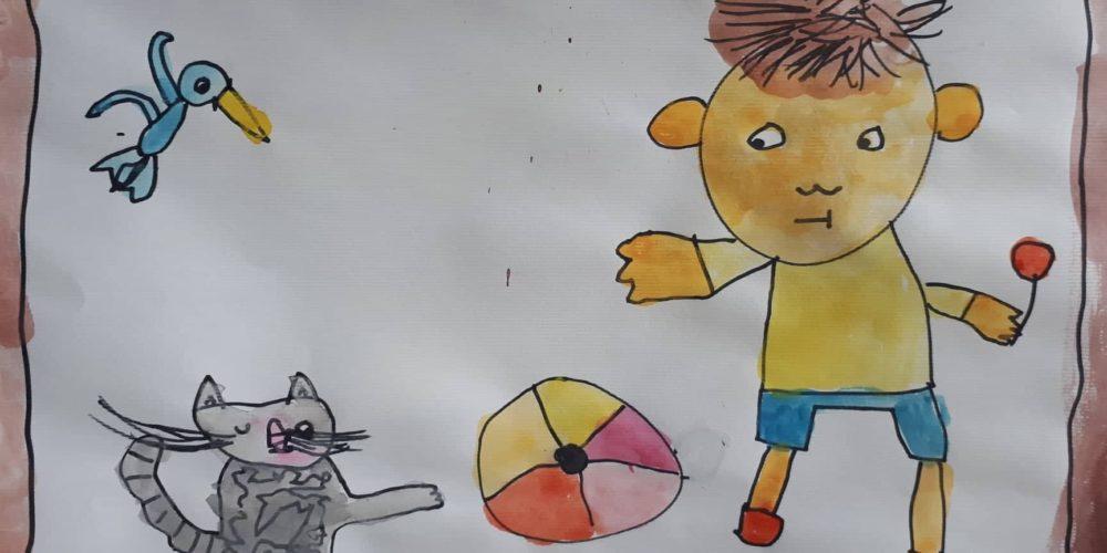 Pedenjped skozi ustvarjalne oči otrok iz Vrtca Martin Krpan Cerknica