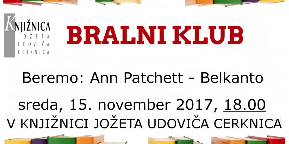 Bralni klub: Ann Patchett – Belkanto