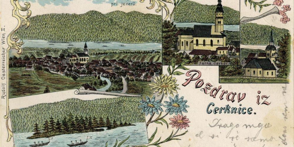 Stare razglednice Cerknice iz naše Domoznanske zbirke
