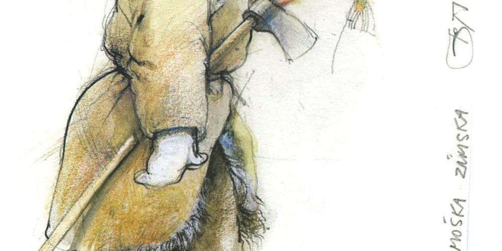 Božidar Strman – Mišo:  Rekonstrukcijske skice oblačilnih sestavin  ter slike zimske in poletne noše kmečkega prebivalstva  v krajih ob Cerkniškem jezeru v 18. stoletju